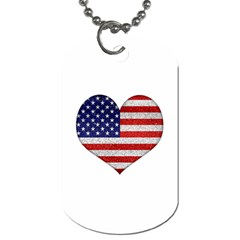 Grunge Heart Shape G8 Flags Dog Tag (two Sided)
