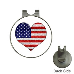 Grunge Heart Shape G8 Flags Hat Clip With Golf Ball Marker by dflcprints