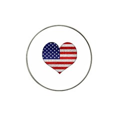 Grunge Heart Shape G8 Flags Golf Ball Marker 4 Pack (for Hat Clip) by dflcprints