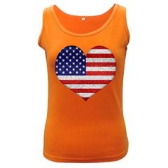 Grunge Heart Shape G8 Flags Women s Tank Top (dark Colored) by dflcprints