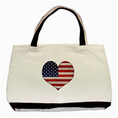 Grunge Heart Shape G8 Flags Classic Tote Bag by dflcprints