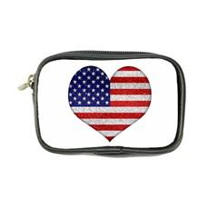 Grunge Heart Shape G8 Flags Coin Purse