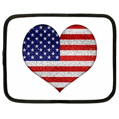 Grunge Heart Shape G8 Flags Netbook Sleeve (xl)