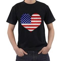 Grunge Heart Shape G8 Flags Men s T Shirt (black)