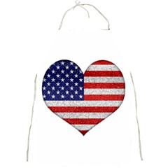 Grunge Heart Shape G8 Flags Apron