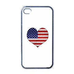 Grunge Heart Shape G8 Flags Apple Iphone 4 Case (black) by dflcprints
