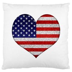 Grunge Heart Shape G8 Flags Large Cushion Case (single Sided)