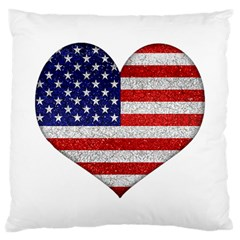 Grunge Heart Shape G8 Flags Large Cushion Case (two Sided)