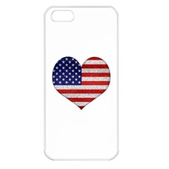 Grunge Heart Shape G8 Flags Apple Iphone 5 Seamless Case (white) by dflcprints