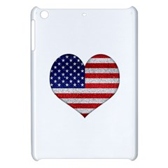 Grunge Heart Shape G8 Flags Apple Ipad Mini Hardshell Case by dflcprints