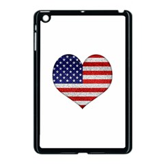 Grunge Heart Shape G8 Flags Apple Ipad Mini Case (black)