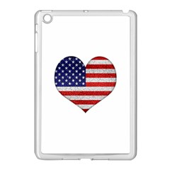 Grunge Heart Shape G8 Flags Apple Ipad Mini Case (white) by dflcprints