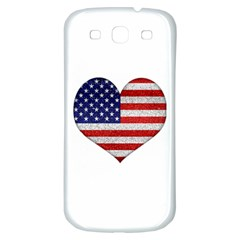 Grunge Heart Shape G8 Flags Samsung Galaxy S3 S Iii Classic Hardshell Back Case