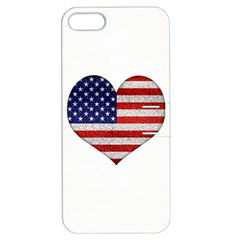 Grunge Heart Shape G8 Flags Apple Iphone 5 Hardshell Case With Stand