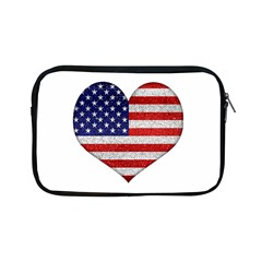 Grunge Heart Shape G8 Flags Apple Ipad Mini Zippered Sleeve by dflcprints