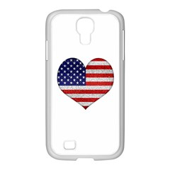 Grunge Heart Shape G8 Flags Samsung Galaxy S4 I9500/ I9505 Case (white) by dflcprints