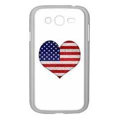 Grunge Heart Shape G8 Flags Samsung Galaxy Grand Duos I9082 Case (white) by dflcprints