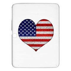 Grunge Heart Shape G8 Flags Samsung Galaxy Tab 3 (10 1 ) P5200 Hardshell Case