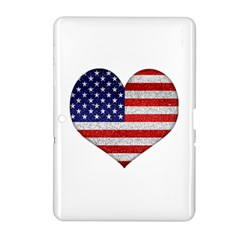 Grunge Heart Shape G8 Flags Samsung Galaxy Tab 2 (10 1 ) P5100 Hardshell Case