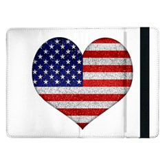 Grunge Heart Shape G8 Flags Samsung Galaxy Tab Pro 12 2  Flip Case by dflcprints