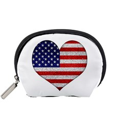 Grunge Heart Shape G8 Flags Accessories Pouch (small)
