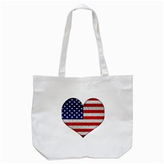 Grunge Heart Shape G8 Flags Canvas Tote Bag