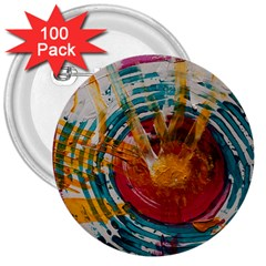 Art Therapy 3  Button (100 Pack) by StuffOrSomething
