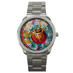 Art Therapy Sport Metal Watch