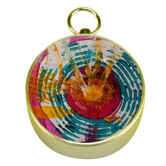 Art Therapy Gold Compass by StuffOrSomething