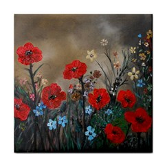 Poppy Garden Ceramic Tile