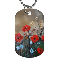 Poppy Garden Dog Tag (one Sided) by rokinronda
