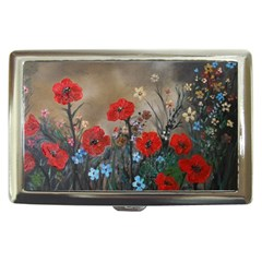 Poppy Garden Cigarette Money Case by rokinronda