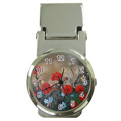 Poppy Garden Money Clip With Watch by rokinronda