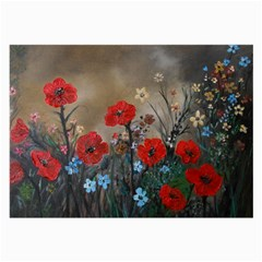 Poppy Garden Glasses Cloth (large, Two Sided)
