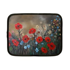 Poppy Garden Netbook Sleeve (small) by rokinronda