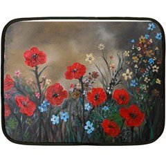 Poppy Garden Mini Fleece Blanket (two Sided) by rokinronda
