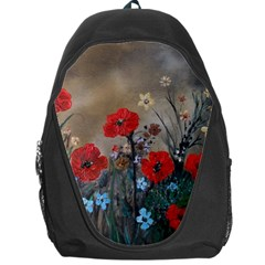 Poppy Garden Backpack Bag by rokinronda