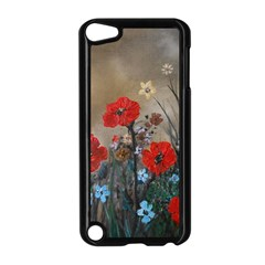 Poppy Garden Apple Ipod Touch 5 Case (black) by rokinronda