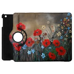 Poppy Garden Apple Ipad Mini Flip 360 Case by rokinronda