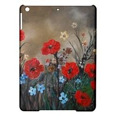 Poppy Garden Apple Ipad Air Hardshell Case by rokinronda