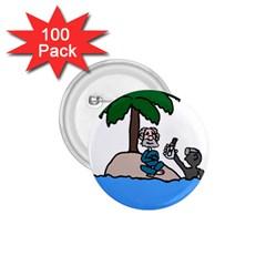 Desert Island Humor 1 75  Button (100 Pack) by EricsDesignz
