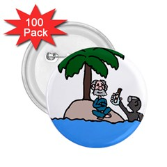 Desert Island Humor 2.25  Button (100 pack) by EricsDesignz