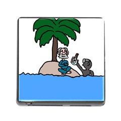 Desert Island Humor Memory Card Reader With Storage (square) by EricsDesignz