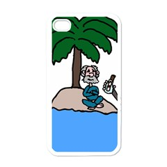 Desert Island Humor Apple Iphone 4 Case (white) by EricsDesignz