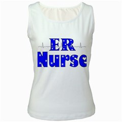 Er Nurse  Women s Tank Top (white) by GailGabel