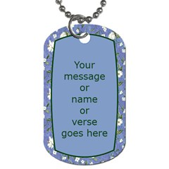 My Memory Dog Tag (2 Sided) By Deborah   Dog Tag (two Sides)   K4b7pex097s3   Www Artscow Com Back