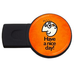 Have A Nice Day Happy Character 2gb Usb Flash Drive (round)