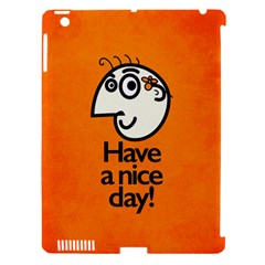 Have A Nice Day Happy Character Apple Ipad 3/4 Hardshell Case (compatible With Smart Cover) by CreaturesStore