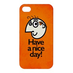 Have A Nice Day Happy Character Apple Iphone 4/4s Premium Hardshell Case