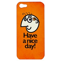Have A Nice Day Happy Character Apple Iphone 5 Hardshell Case